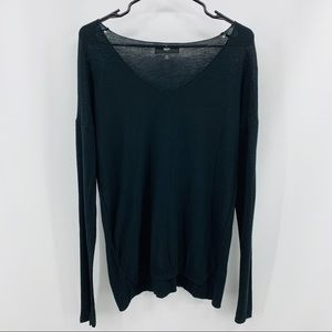 Mossimo Thin Black Long Sleeve Scoop Neck Sweater